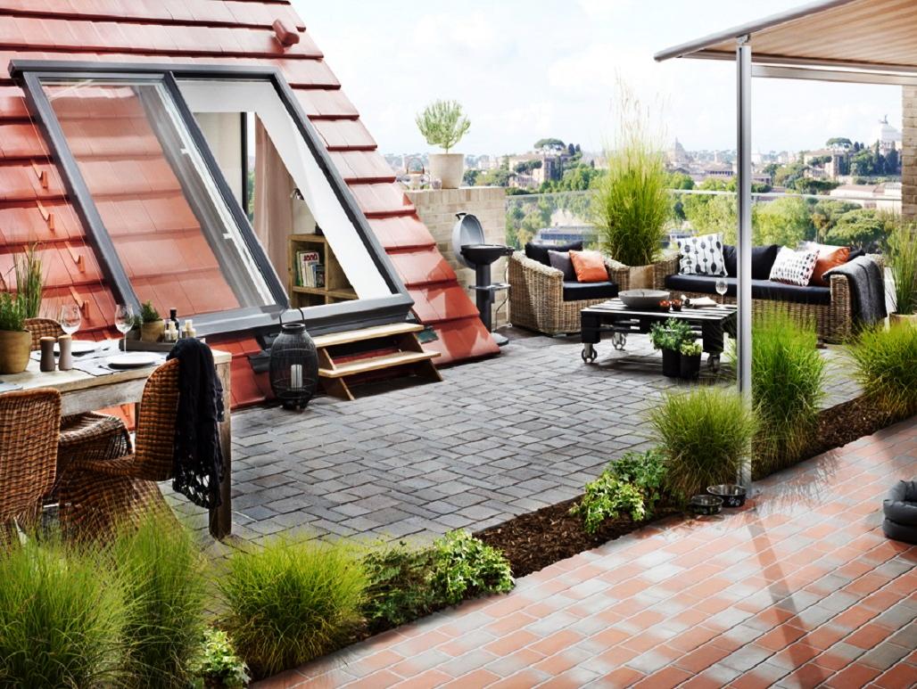 Dakschuiframen welkom inpandig dakterras for Road house classic zolder